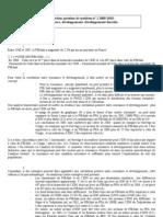 correction question de synthèse croissance développement développment durable 2009 -2010