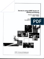 Secrets to Using ASME Section IX Welding and Brazing