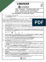 PROVA 26 - PROFISSIONAL JÚNIOR - TECNOLOGIA DA INFORMAÇÃO - ANÁLISE DE SISTEMAS