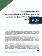 Oportunidades políticas para la acción