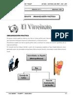 2do. Año - HP - Guía Nº 4 - Virreinato - Organización Políti.doc