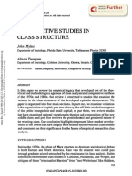 Compartive Studies in Class Structure