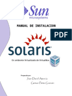 Manual Instalación Solaris 10 - VirtualBox