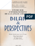 Etude sur l'enseignement de tamazight. Bilan et perspectives - Noura Tigziri et Amar Nabti