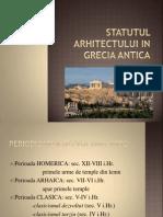 Statutul arhitectului