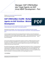 Sap Crmsolman Charm Multiple Target Agents via Sap Workflow Minimal Abap Development Part 3