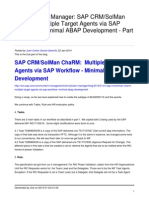 Sap Crmsolman Charm Multiple Target Agents via Sap Workflow Minimal Abap Development Part 2