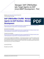 Sap Crmsolman Charm Multiple Target Agents via Sap Workflow Minimal Abap Development Part 4