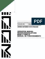 ZOOM 9050 Manual