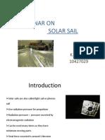 Seminar on Solar Sail