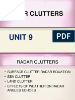 Unit 9 Radar Clutters