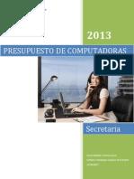 Presupuesto Computadora Secretaria