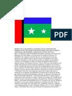 RESEÑA DE LA BANDERA GANADORA EN EL CONCURSO DE SIMBOLOS DEL MUNICIPIO JOSÉ FÉLIX RIBAS ESTADO GUÁRICO