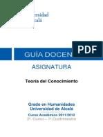 Universidad de Alcalá - Teoría del Conocimiento