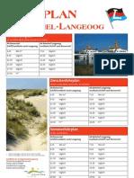 Fahrplan der Schiffahrt Langeoog 2010