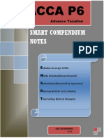 SMART Compendium Notes ACCA P6 (40 Pages)