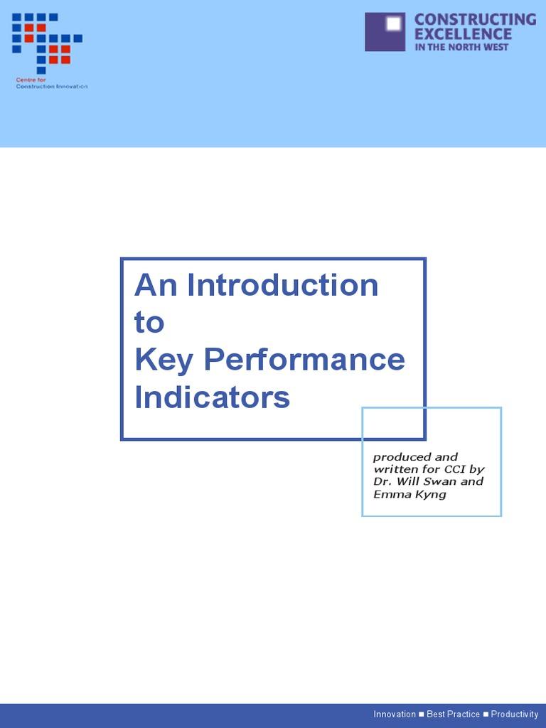 Cci Kpi Report 2004   Benchmarking   Performance Indicator