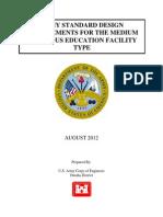 2012 - Medium Religious Education Facility Standard Design