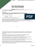 01 Civil Engineering Heading Back to the Future - Chicago Tribune