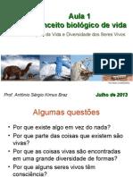 1 Conceito Biologico de Vida 2013