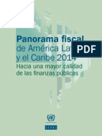 CEPAL Panorama Fiscal 2014