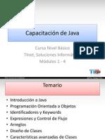 Capacitación Java Basico I