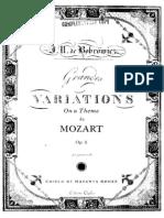 Mozart Grandes Variations Guitar