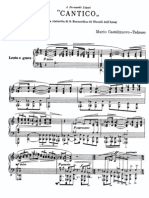 Castelnuovo Tedesco :Cantico Op 19