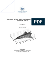 Sizing and Balance Module Development for Aircraft Thesis