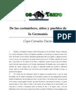 Tacito, Cayo Cornelio - De Las Costumbres, Sitios y Pueblos de La Germania