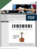 Como Afinar El Violin Con Un Piano