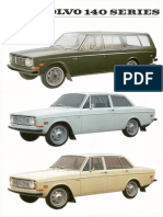 Volvo 140 Series Data Sheet.