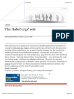 The Habsburgs' War | @Guardianletters | World News | the Guardian