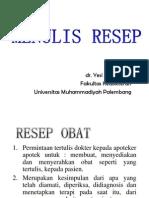 MENULIS RESEP 2013