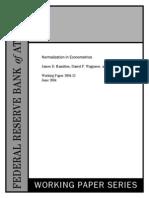 Normalization in Econometrics