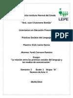 ensayo  la relacin entre las prcticas sociales del lenguaje y los medios de comunicacin