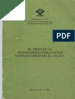 El Proyecto Pedagogico Educativo Comunitario en El Icbf1