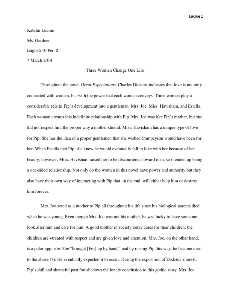 Persuasive Essay Thesis Statement Literary Analysis Essay Great Expectations  Estella Great Expectations   Pip South Park E Business Essay also English Composition Essay Examples Literary Analysis Essay Great Expectations  Estella Great  Hiv Essay Paper