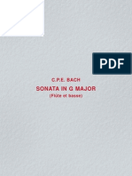 Sonata in G Major Flute Piano CPE Bach