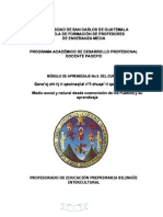 Modulo III Medio Social y Natural Preprimaria Bilingüe