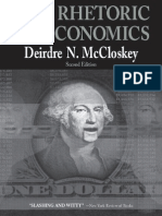 Deirdre N. McCloskey (1998) the Rhetoric of Economics Rhetoric of the Human Sciences 2e 250 p