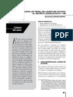 Lectura Nro 06 - La Nueva Ley Penal de Lavado de Activos