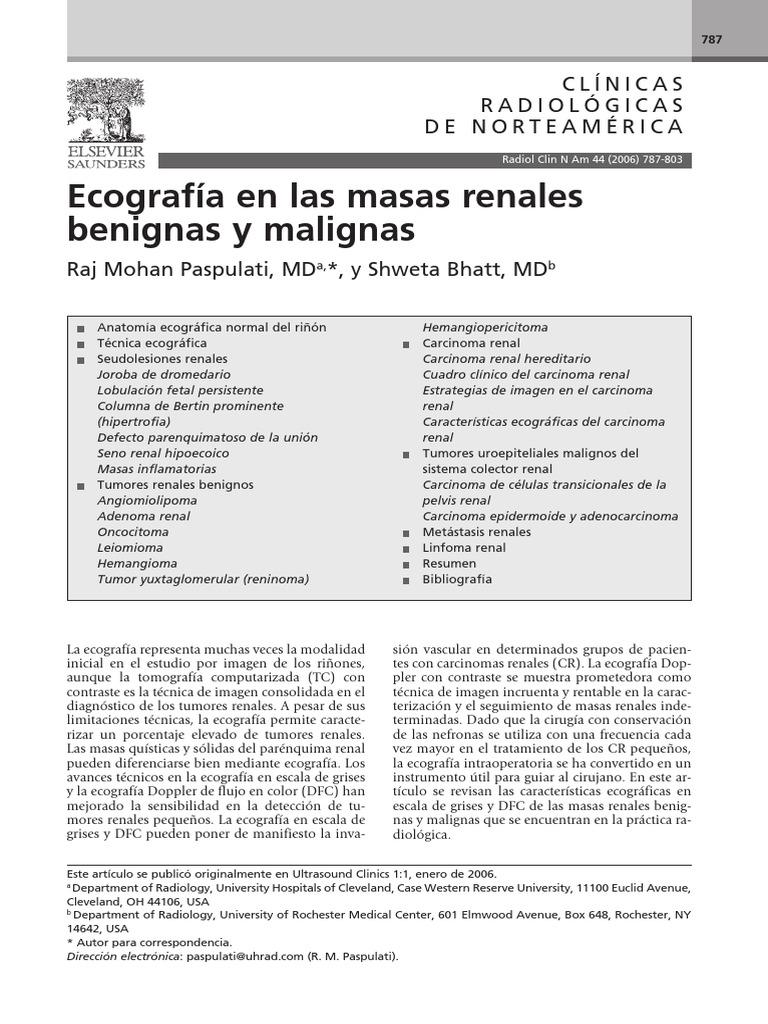 Ecografia de Las Masas Renales