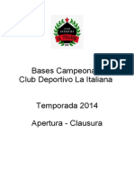 Reglamento Campeonato C.D. La Italiana 2014