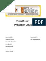 Propeller Clock Project Report