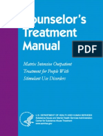 Counselors Treatment Manual