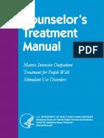 Counselors Treatment Manual
