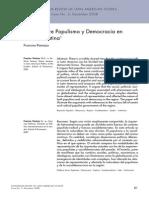 Fisuras Entre Populismo y Democracia