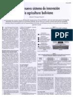 Hacia el nuevo sistema de innovación en la agricultura Boliviana