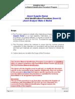 Example of Positive Material Identification Procedure-Plan